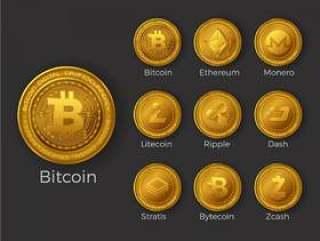 金加密货币硬币图标设置