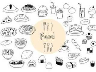 手写的食物插图集