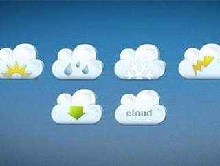 可爱云朵图标PSD分层
