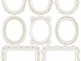 手绘古色古香的图片框架集