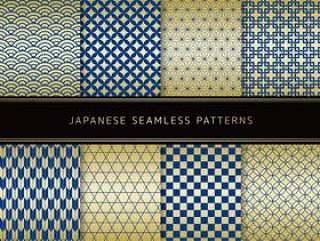一套日本模式的蓝色×黄金
