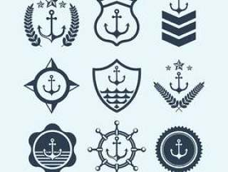 海军印章符号和标志