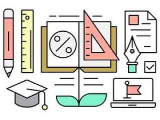 关于教育的线性向量元素