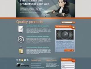 国外网页模板PSD分层