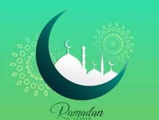 创意斋月贾巴尔月亮和清真寺设计
