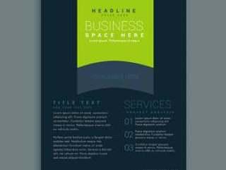 黑暗宣传册设计模板矢量设计