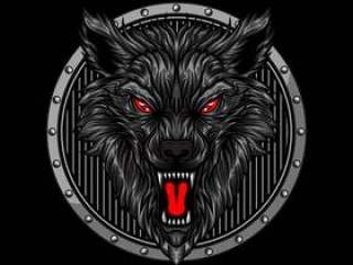 愤怒的狼头
