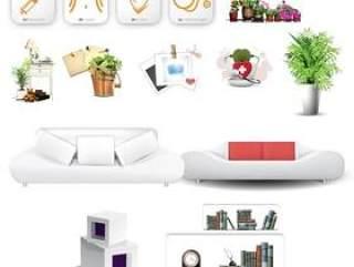 家居装饰用具PSD素材