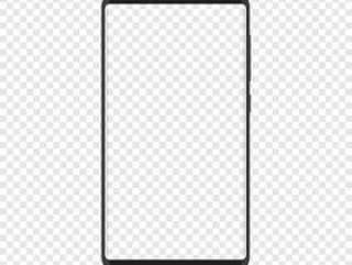 智能手机与透明背景