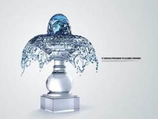 水之创意系列PSD分层素材五