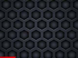 黑暗的六角形图案背景设计