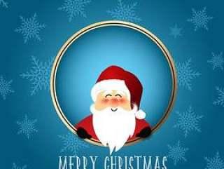 可爱的圣诞老人圣诞背景