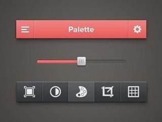 UI手机控件工具PSD