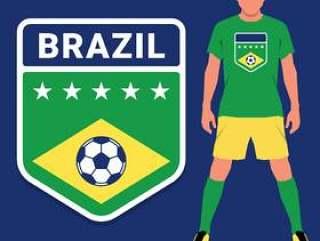 巴西足球锦标赛会徽设计模板集