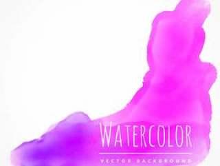 水彩污渍在粉红色的颜色矢量设计插画