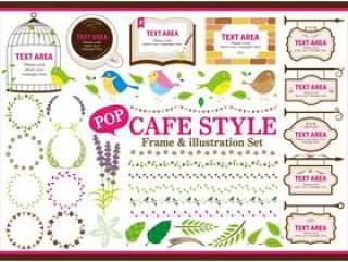 流行咖啡厅风格材料