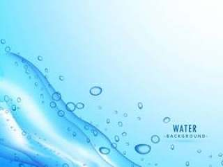 水溅在蓝色背景上的液体
