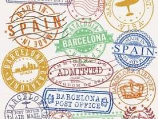 巴塞罗那西班牙邮政护照质量邮票
