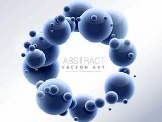 3d分子框架抽象背景