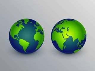 现实的地球图标标志设计