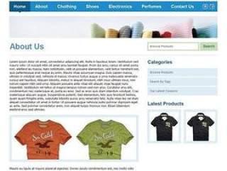 清爽的衣服专卖网站模板psd分层素材