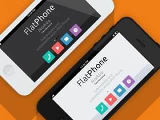 iPhone5扁平化模型PSD
