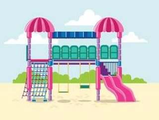 儿童丛林健身房的插图