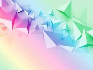 与3d多边形三角形形状的彩色背景