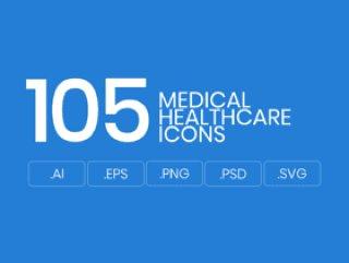 105医疗&医疗保健产业的平的传染媒介象。,105医疗医疗保健象