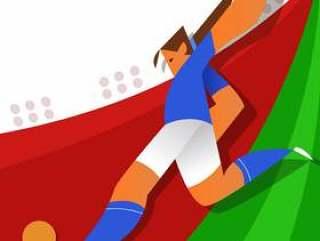 意大利世界杯足球运动员踢球