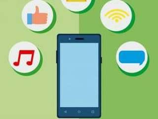 智能手机的社交媒体