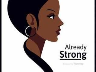 简约国际妇女节矢量海报