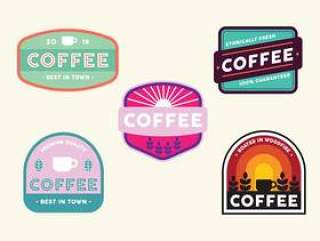 复古咖啡徽章集