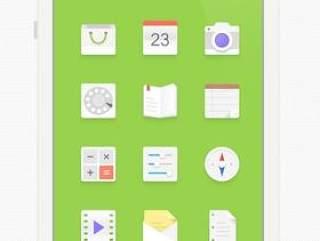 伪扁平化手机主题图标PSD分层设计