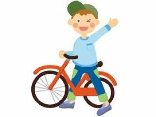 自行车和男孩