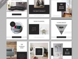 家具社交媒体发布模板