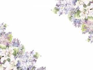 花框架142 - 丁香季节性花框架