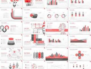 欧美PPT模板立体丰富图表商务主题打包下载(包含6种配色每种配色115页)
