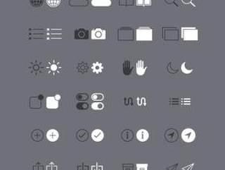52个苹果系统IOS系统图标PSD素材