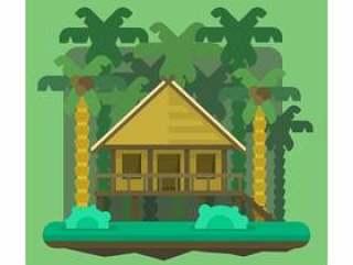 丛林简易别墅