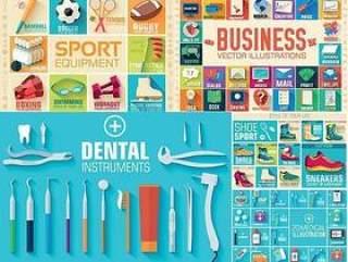 体育运动与牙科医疗等图标