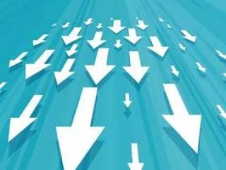 向下移动业务概念设计的箭头