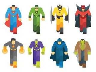 超级英雄矢量图标