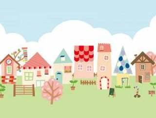 斯堪的纳维亚风格镇插图