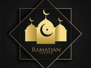 斋月贾巴尔伊斯兰问候与清真寺剪影
