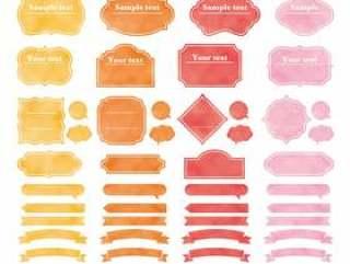 水彩框架集05 _温暖的颜色