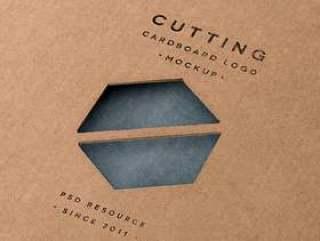 切割纸板标志模拟