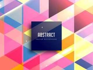 抽象的彩色几何背景矢量