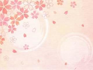 日本报纸_樱桃树背景