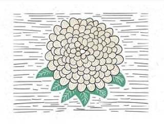 手绘矢量抽象花卉